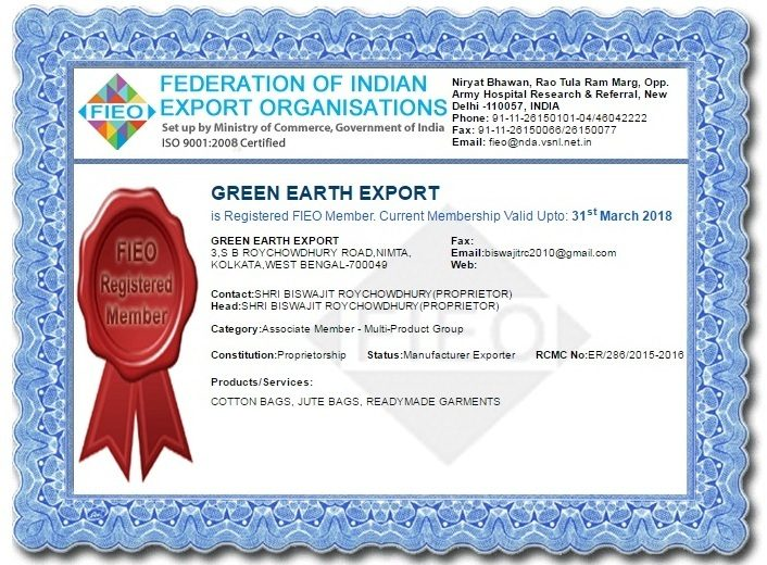 about us | Greenearth Export- Jute bag manufactures in india